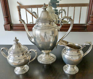 Fisher Sterling Coffee Service Very Nice Condition 1283 Grams