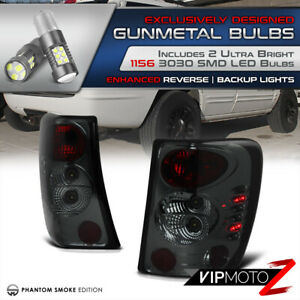 1700lms Bulb Backup For 99 04 Jeep Grand Cherokee Smoke Brake Tail Light Led
