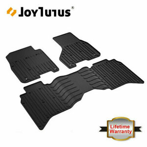 Front Rear Floor Mats Black For 2013 2017 Dodge Ram 1500 2500 3500 Crew Cab