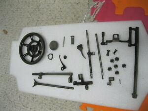 Singer 15 Treadle Sewing Machine Large Parts Lot Free U S Shipping