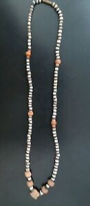 Ancient Antique Pre Columbian Hand Cut Stone Bead Tairona Culture 20 Necklace