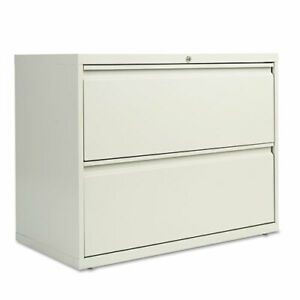 Two drawer Lateral File Cabinet 36w X 19 1 4d X 28 3 8h Light Gray