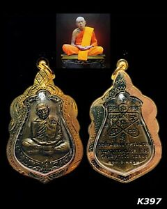 Phra Lp Tim Wat Lahanrai Be 2518 Thai Amulet Pendant Talisman Gold Case Old K397
