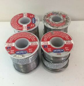 Lot Of X 4 Lb Rosin Core 60 40 Solder 031 Dia 1lb Worthington 331856