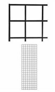 Grid Panel 2 X 6 Set Of 4 Panels Black Retail Display Craft Wire Gridwall