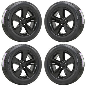 18 Dodge Charger Challenger Rwd Gloss Black Wheels Rims Tires Factory Oem 2521