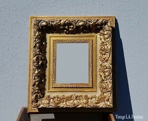 Vintage French Provincial Gold Ornate Rococo Picture Frame 1