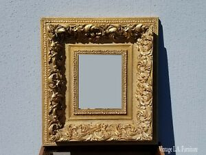 Vintage French Provincial Gold Ornate Rococo Picture Frame 2
