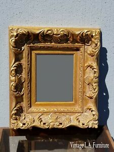 Vintage French Provincial Rococo Louis Xvi Gold Ornate Picture Frame 4
