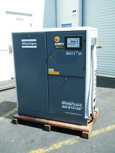 Atlas Copco Ga11ff 15 Hp Rotary Screw Air Compressor Dryer Kaeser Ingersoll 2008