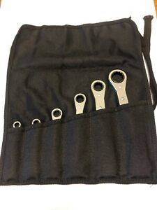 Snap On Tools 6pc Double Boxed End 12pt Ratchet Wrench Set 1 4 7 8 Co6pcrb