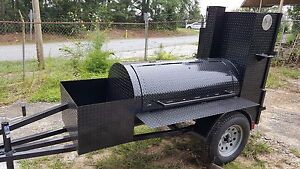 Start Bbq Business Reverse Plate Pro Pitmaster Smoker Grill Trailer Food Truck