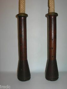 Free Shipping Antique Primitive Folk Art Wooden Candle Holders Bee S Wax Candles