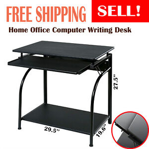 Home Office Computer Desk With Keyboard Tray Pull out Hutch Multipurpose New