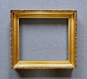 Antique Gold Gilded Gesso Picture Frame 13 X 15