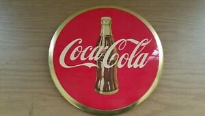 Vintage 1950's Coca-cola 9 inch Celluloid Advertising Button Sign Philly PA