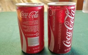 Lot of 2 Vintage Coca-Cola Coke Cans Empty New York City  New York