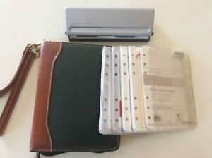 Franklin Covey Compact Top grain Leather Planner Pages Tabs Hole Punch Lot