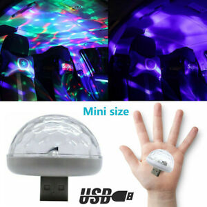Usb Led Car Atmosphere Lamp Interior Ceiling Ambient White Light Projector