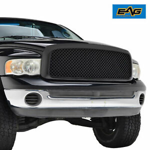 Full Upper Packaged Grill Front Replacement Grille For 02 05 Dodge Ram 1500 2500