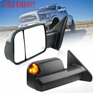 Fit 02 2007 2008 Dodge Ram 1500 Trailer Towing Mirrors Power Heated Turn Light
