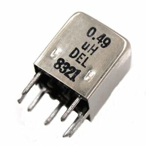 Del 8321 0 49 h Shielded Variable Inductor Lot Of 1 3 10 Or 25