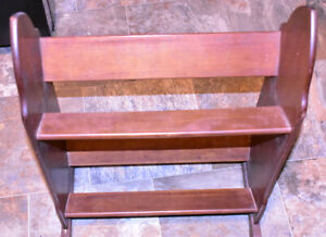 Antique Side Bookshelf 1940ish Recently Restored Mahogany Maybe Shoe Rack
