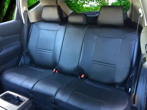 Leatherette Rear Split Zip Type Car Seats Covers For Toyota Black 255