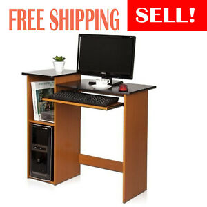 Home Office Computer Desk With Keyboard Tray Pull out Computer Writing Desk New