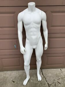 Male Full Body retail Display Mannequin With Removable Arms
