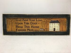 God Rest Your Love Print Country Primitive Home Decor Picture