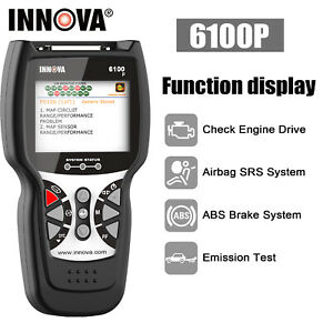 Innova 6100p Car Obd2 Scanner Code Reader Engine Abs Srs Diagnostic Scan Tool