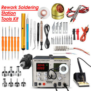 800w Soldering Iron Smd 9305d Rework Heat Hot Air Gun Station Heater Pyrography