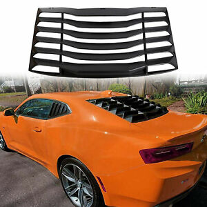 Fit Chevy Camaro 2016 2019 Matte Black Rear Window Louver Sun Shade Cover Lambo