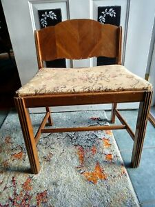 Vintage Art Deco Vanity Bench Piano Seat Stool Chair