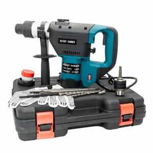Sds Electric Hammer Drill Set 1 1 2 1100w 110v Blue Delivers Up To 900rpm