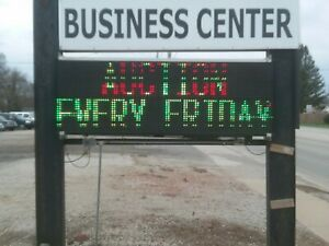2 Led Sign Outdoor Programmable Message Display Digital Sign