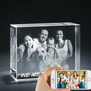 3d Laser Engraved Personalized Crystal Gift Xxlrg Brick Shape Base