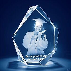 Mothers Day Laser Engraved 3d Crystal Glass Personalized Gift Lrg Prestige