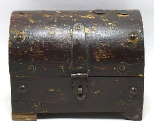 Vintage Handmade Trinket Box Sewing Box Collective Iron Fitted Box I71 233 Us