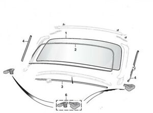 Windshield Rubber Re Seal Pkg For 1962 To 1980 Mgb Mgc Roadster New