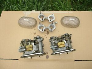 Pair Dellorto Dhla40 Carbs carburetors Intake Manifolds Made In Italy