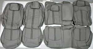 Fits 2015 2017 Hyundai Sonata Se Sport Gray Leather Upholstery Seat Cover Set