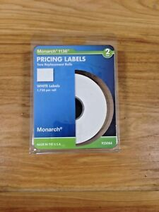 Monarch 1136 2 Line Pricing Labels 1750 Per Roll 2 White Replacement Rolls 92508