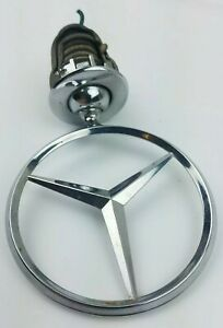 Mercedes Benz Hood Ornament Emblem Front Oem Three Point Star Chrome
