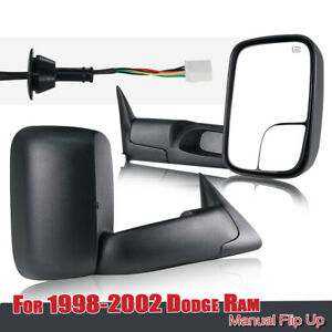 For 1998 2001 Dodge Ram 1500 Power Heat Tow Fold Out Mirrors 98 02 Ram 2500 3500