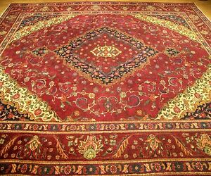 9 9 X 12 9 Handmade Hand Knotted High Quality Persian Antique 1930s Wool Rug