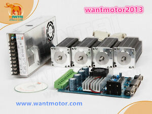 Us Free Shipwantai 4axis Nema 23 Stepper Motor 270oz in 2 Phase 4 leads Cnc Kit