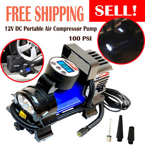 Air Compressor For Car Tires Portable Inflator Car Air Pump Compressor 12 V Dc