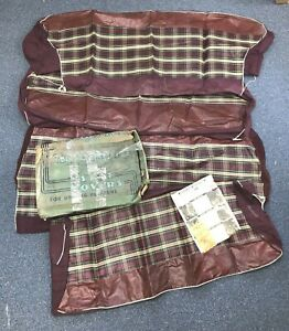 1941 1942 1946 1947 1948 Chevy Olds Pontiac Vintage Plaid Seat Covers Old Stock